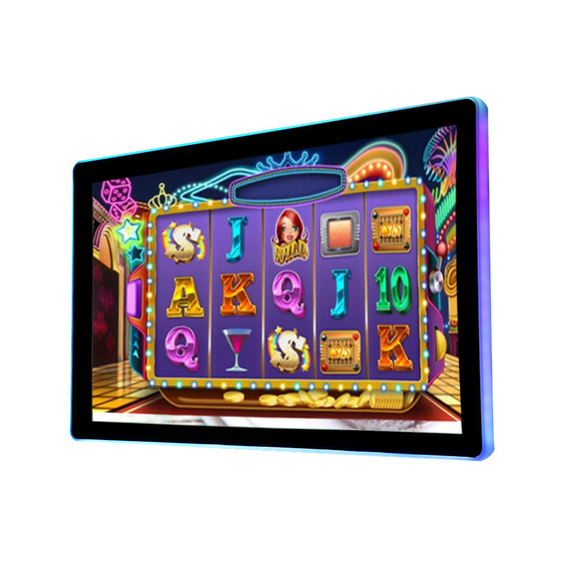 21.5 inch LCD open frame PCAP touch monitor gaming display (with external acrylic led bar)