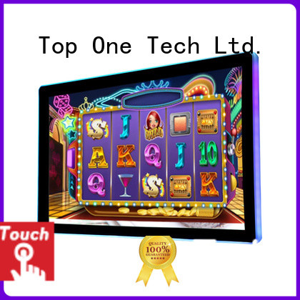 Toponetech good quality open frame touch screens producer for gaming room