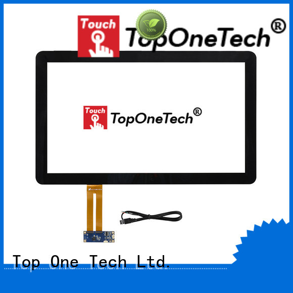 Toponetech cost-effective pcap touch panel with custom size for industrial touch display applications