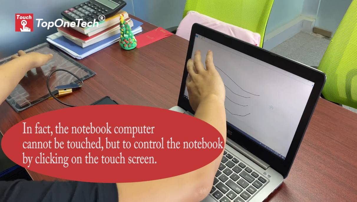 The strongest magic: a laptop without touch function turns into a touch computer in seconds?