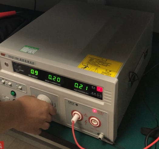 Quality assurance-withstand voltage test of touch display
